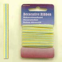 H&C Fun 12101-0117-Decorative Ribbon-lint 3mm MultiYellow