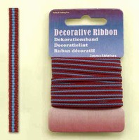 H&C Fun 12101-0118-Decorative Ribbon-lint 3mm Multi Bordeaux