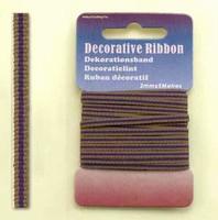 H&C Fun 12101-0119-Decorative Ribbon-lint 3mm Multi Purple
