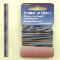 H&C Fun 12101-0120-Decorative Ribbon-lint 3mm MulitBlue