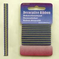 H&C Fun 12101-0121-Decorative Ribbon-lint 3mm MulitLime