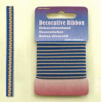 12101-0123-Decorative Ribbon-lint 3mm MultiJeans