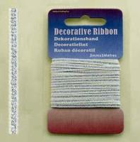 H&C Fun 12101-0125-Decorative Ribbon-lint 3mm Silver