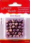 H&CFun 117206-0604 Oil painted beads - Lila/paars