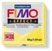 Fimo Soft 104 effect transparant Geel