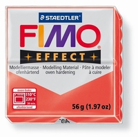 Fimo Soft 204 effect transparant Rood