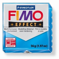 Fimo Soft 374 effect transparant Blauw