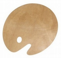 Rico 07238.25.30 Verfpalet hout (middelgroot)