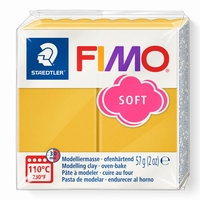 Fimo soft 10 citroen/limoen geel 57 gram