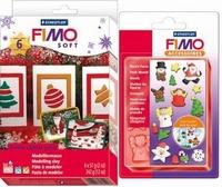Fimo 8023-08 Soft Xmas colour pack + pushmold