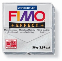Fimo Soft  81 effect metallic Zilver