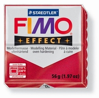 Fimo Soft  28 effect metallic Robijnrood