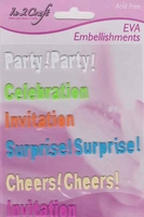 Embellishments Invitation (foam teksten) EMB-In2Crafte 12x17cm
