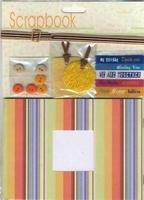 Scrapbook set Oranje (met knoopjes, teksten) 12110-1005 boekje 12x17cm