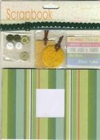 Scrapbook setje Groen (met knoopjes, teksten) 12110-1006 boekje 12x17cm