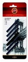 KOH-I-NOOR 4390 set van 6 graphite blocks Carre 7x7mm