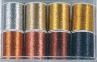 Metallic garen 117209-6004 KARS set zilver,goud,zwart OP=OP 8x30meter