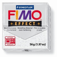Fimo Soft 052 effect glitter Wit