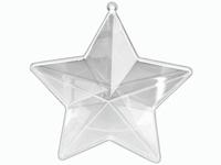 Transparante acryl Ster 8cm KP216917658 8 cm