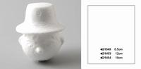 Styropor hoofdje met hoed ''vogelverschrikker'' 21454 18 cm