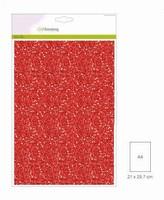 001290_0145 Glitterpapier Kerstrood Craftemotions A4 5vel120grams