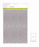 001290_0160 Glitterpapier Wit Craftemotions A4 5vel120grams