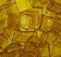 Glasmozaiek transparant geel 1020 20 mm 40 stuks