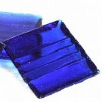 Glasmozaiek transparant donker blauw 1080 20 mm 40 stuks