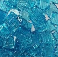 Glasmozaiek transparant licht blauw 1060 20 mm 40 stuks