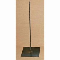 Standaard: Metalen pin 45cm (voet 15x15cm)