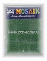 Glasmozaiek Rico Design 155 Smaragd groen 10 of 20 mm