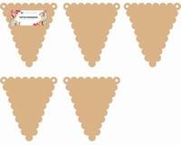 Dutch Doobadoo 460.440.004 MDF Vlaggetjes 5 stuks driehoek 13x14,5cm 5x