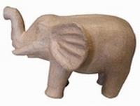 Papier mache Olifant middelgroot rughoogte 17cm