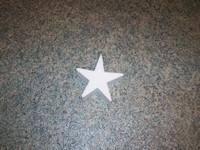 Styropor ster snijvorm 10cm 10cm dikte 3cm