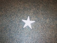 Styropor ster snijvorm 10cm