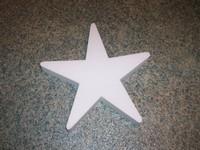 Styropor ster snijvorm 20cm 20cm dikte 3cm