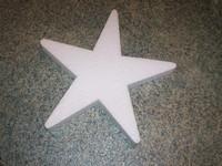 Styropor ster snijvorm 25cm