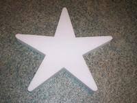 Styropor ster snijvorm 30cm 30cm dikte 3cm