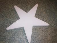 Styropor ster snijvorm 40cm 40cm dikte 3cm