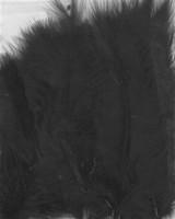 VEREN: Marabou veren Zwart H&C Fun 12228-2801 15stuks/ca.12cm