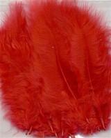 VEREN: Marabou veren Rood H&C Fun 12228-2803 15stuks/ca.12cm