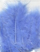 VEREN: Marabou veren Licht Blauw H&C Fun 12228-2805 15stuks/ca.12cm