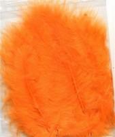 VEREN: Marabou veren Oranje H&C Fun 12228-2810 15stuks/ca.12cm