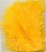 VEREN: Marabou veren Geel H&C Fun 12228-2811 15stuks/ca.12cm