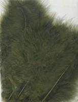 VEREN: Marabou veren Olijfgroen H&C Fun 12228-2813 15stuks/ca.12cm