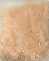 VEREN: Marabou veren Beige H&C Fun 12228-2815 15stuks/ca.12cm