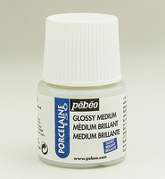 Pebeo porseleinverf medium: 38.002 Medium/vernis gloss flacon 45 ml