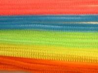 Chenille draad 6mm 12271-7131 Neon gemengd 30cm 20stuks