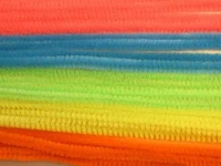 Chenille draad 6mm 12271-7131 Neon gemengd