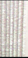 Chenille draad H&C12218-1831 Glitter Wit/Parelmoer 8mm